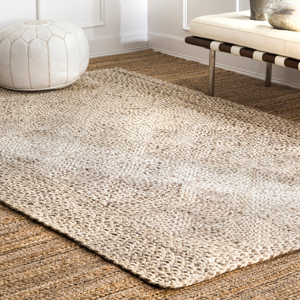 Edmonds Trellis Jute Braided Rug