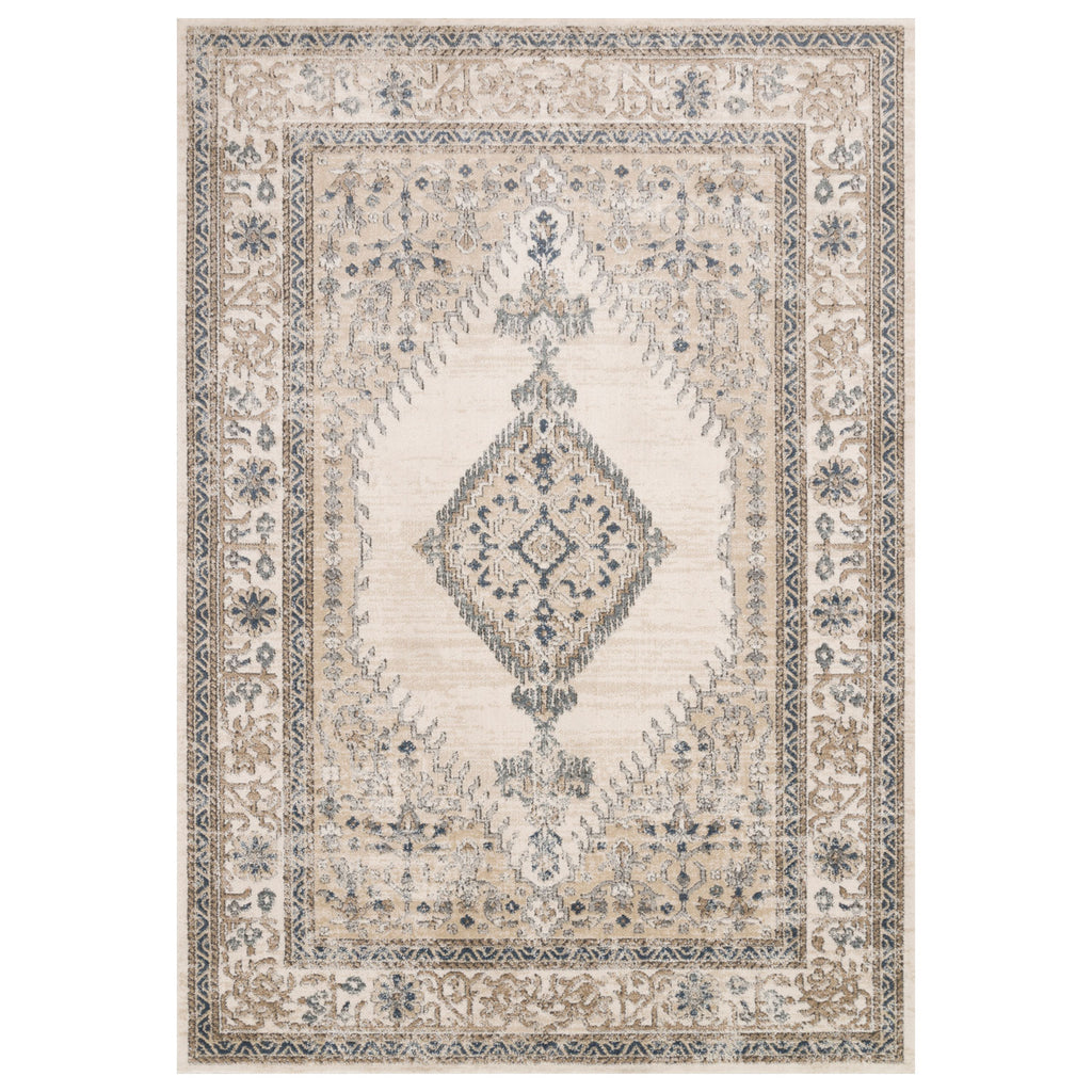 Loloi II Teagan Oatmeal/Ivory Power Loomed Rug
