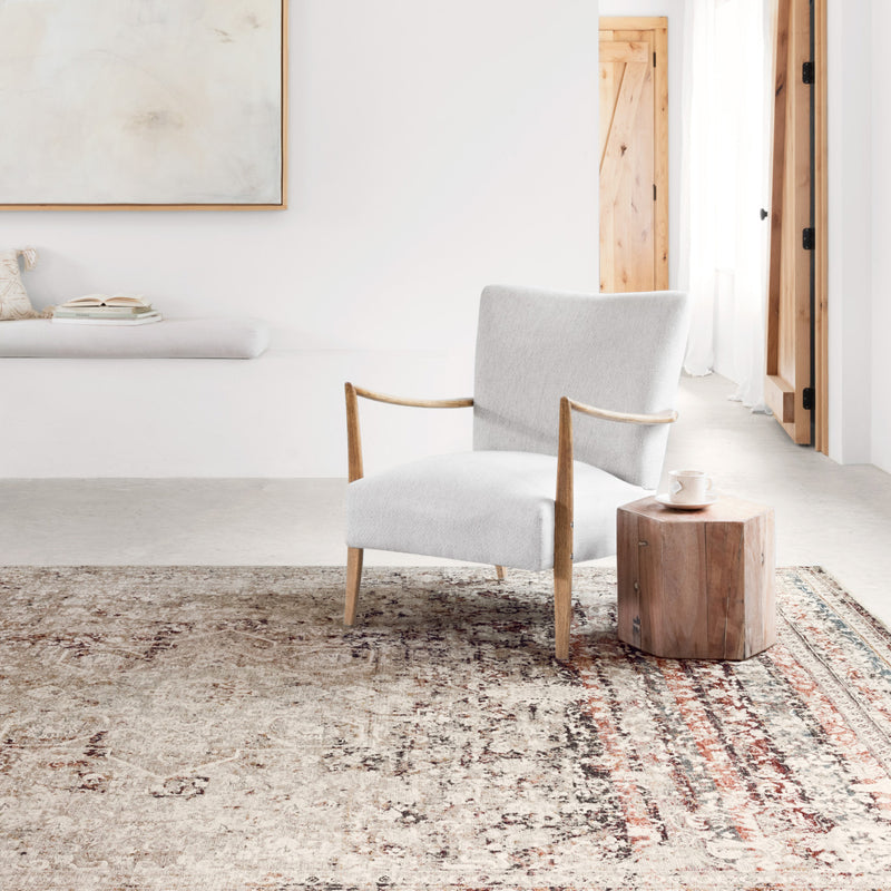 Loloi Theia Taupe/Brick Power Loomed Rug