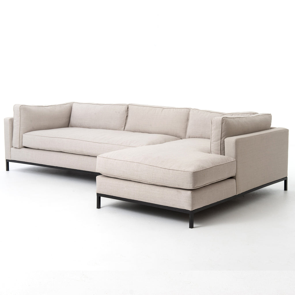 Four Hands Grammercy 2 Piece Right Sectional Sofa
