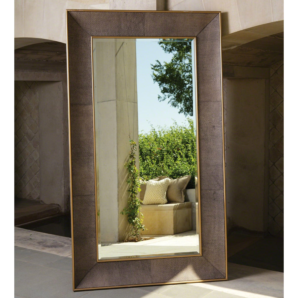 Studio A Churchill Faux Shagreen Leather Floor Mirror