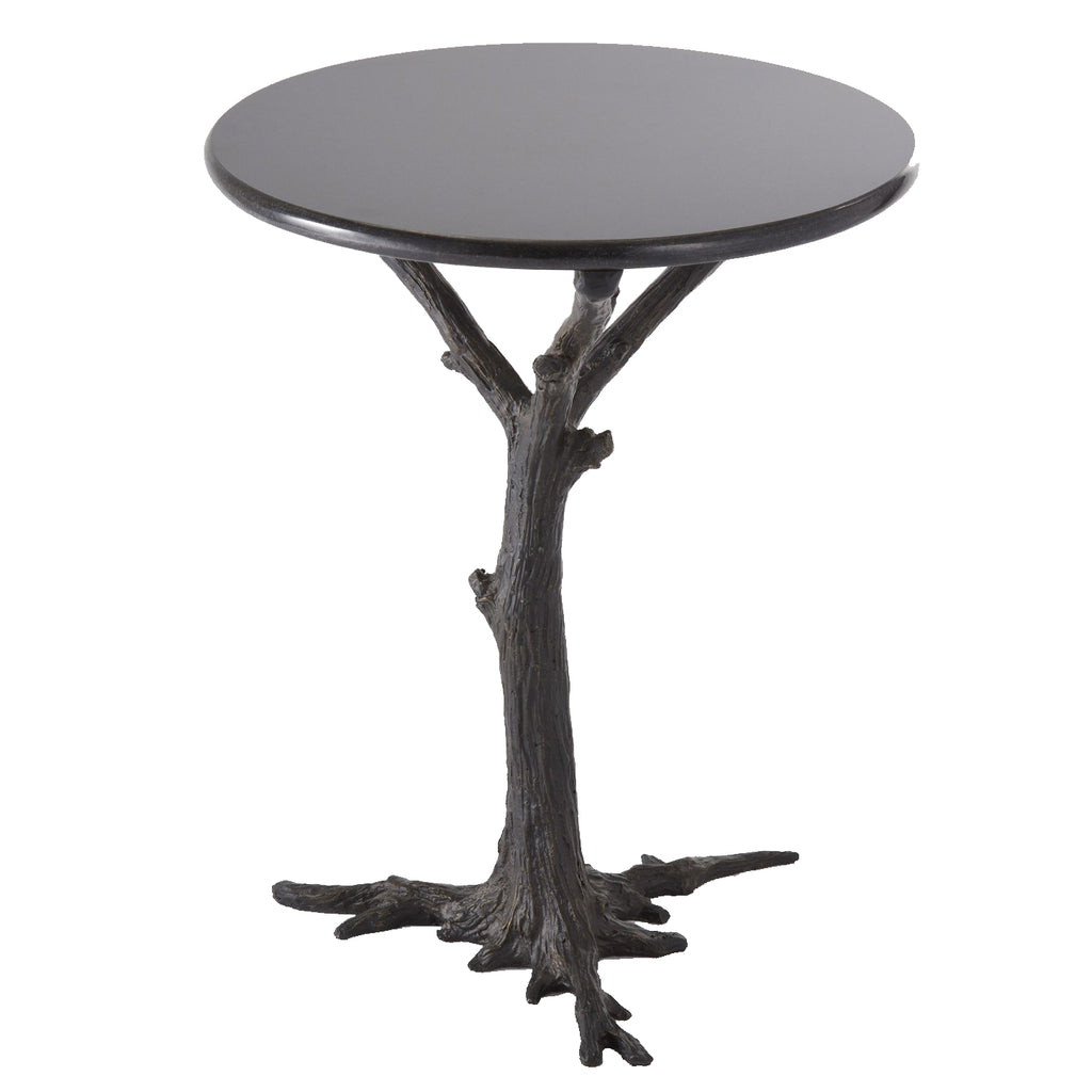 Global Views Faux Bois Side Table