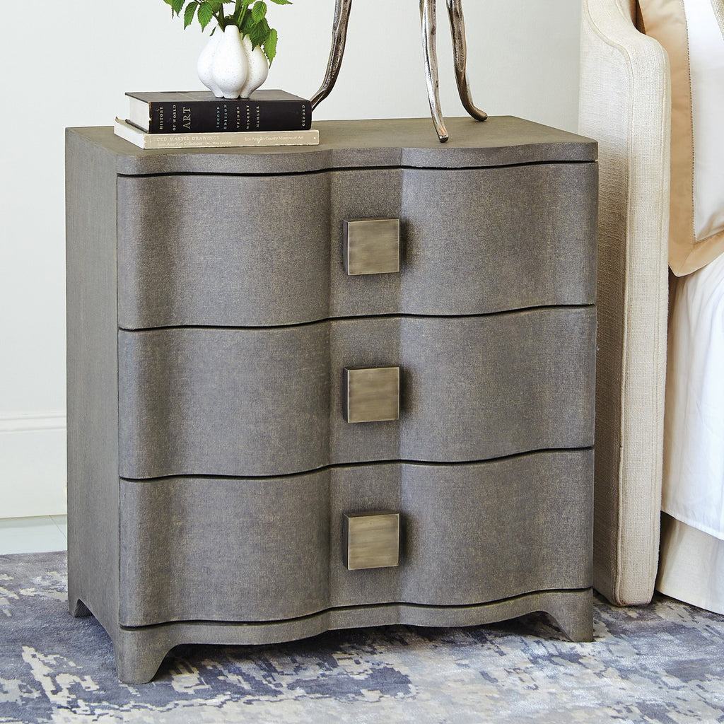 Studio A Toile Linen Bedside Chest