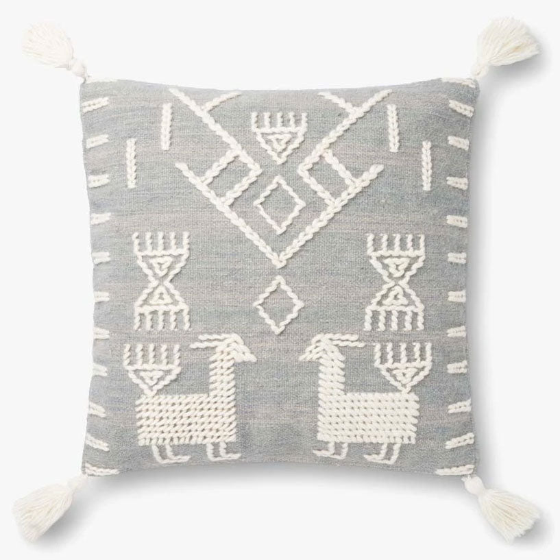 Justina Blakeney × Loloi JB Tribal Gray Throw Pillow Set of 2