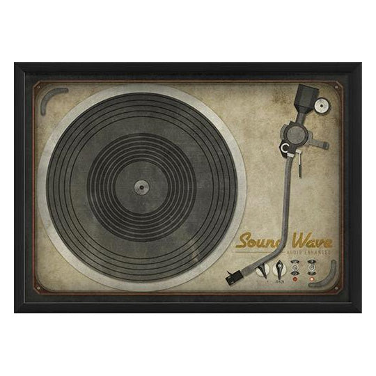 Enhanced Turntable Framed Print