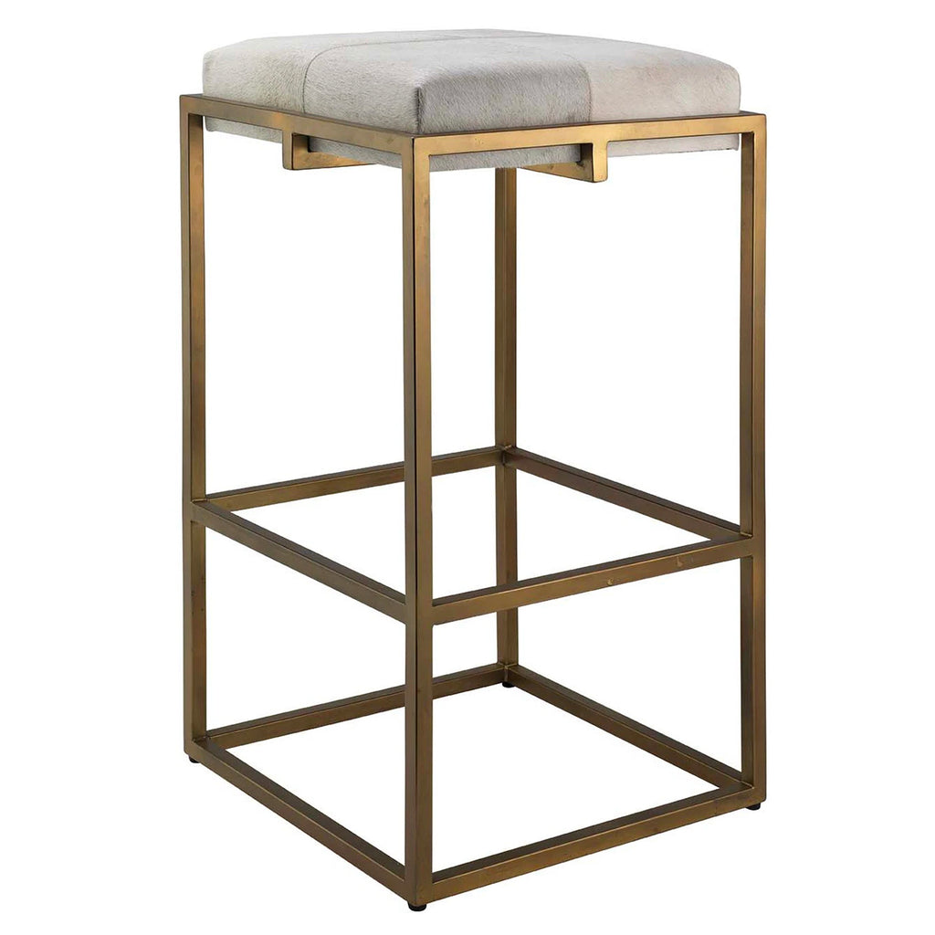Jamie Young Shelby Bar Stool Antique Brass