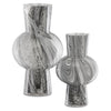 Currey & Co Stormy Sky Glass Vase Set of 2
