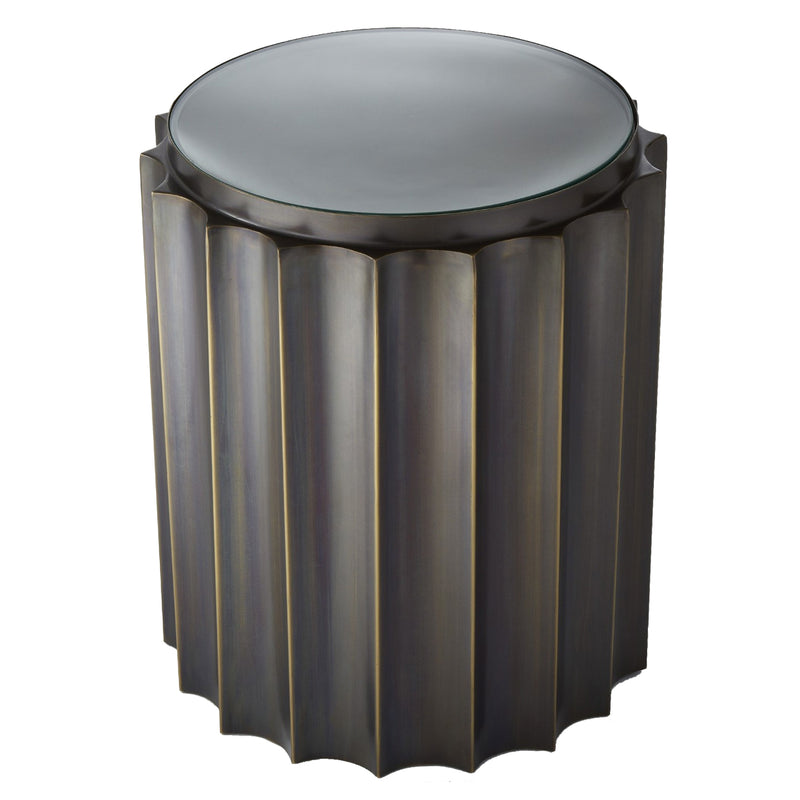 Global Views Fluted Column Side Table