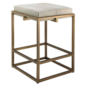 Jamie Young Shelby Counter Stool Antique Brass