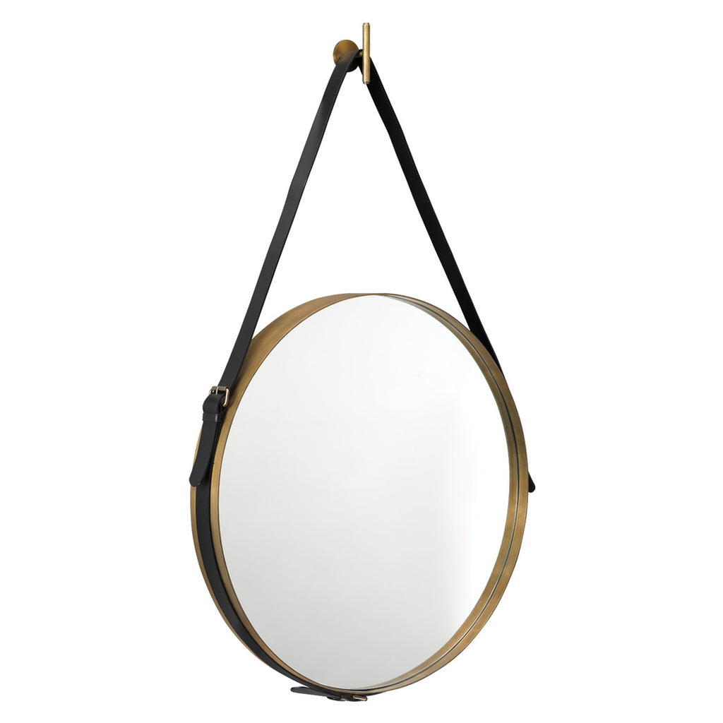 Jamie Young Round Strap Wall Mirror