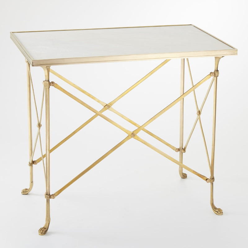 Global Views Directoire Rectangular Side Table