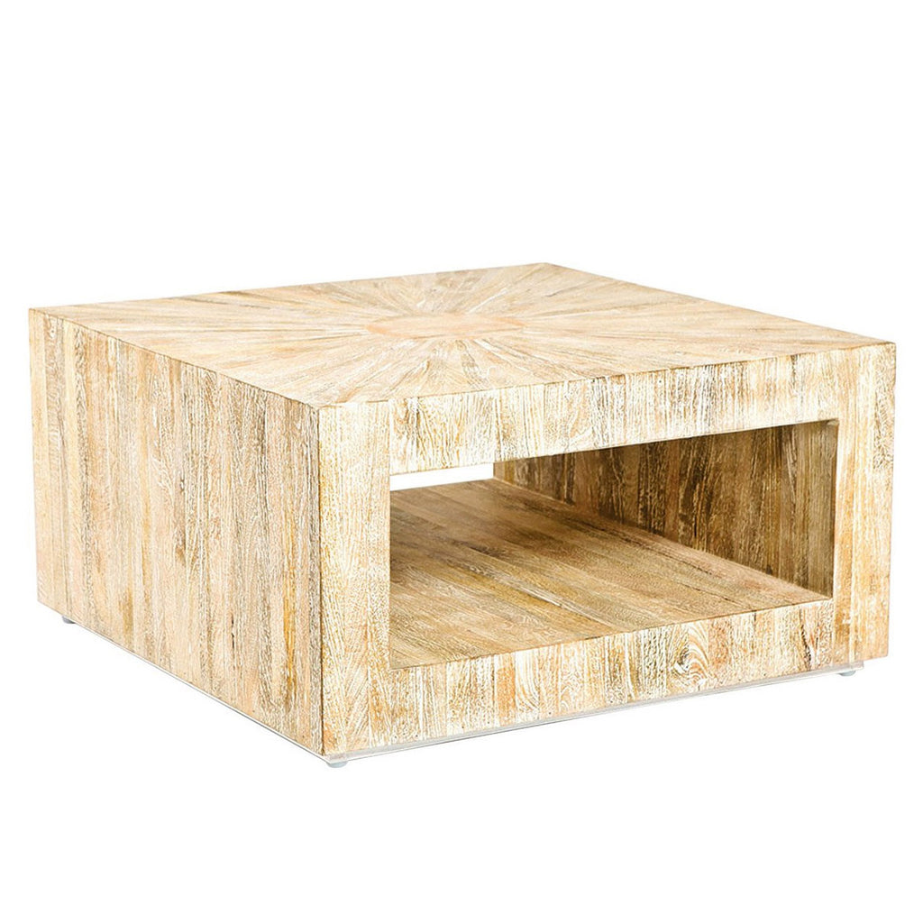 Studio A Driftwood Square Coffee Table