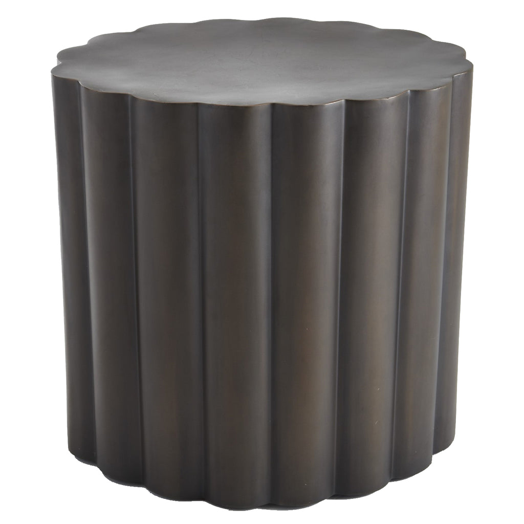 Global Views Fluted Side Table