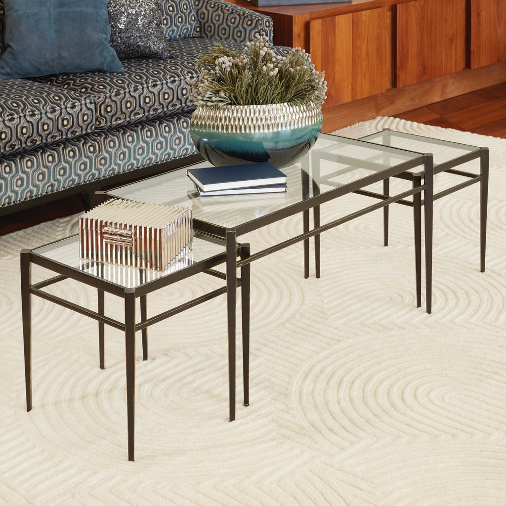 Global Views Lescot Nesting Coffee Table Set of 3