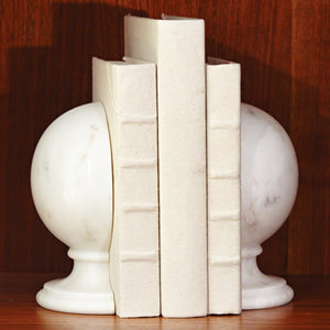 Global Views Marble Sphere Bookend Set