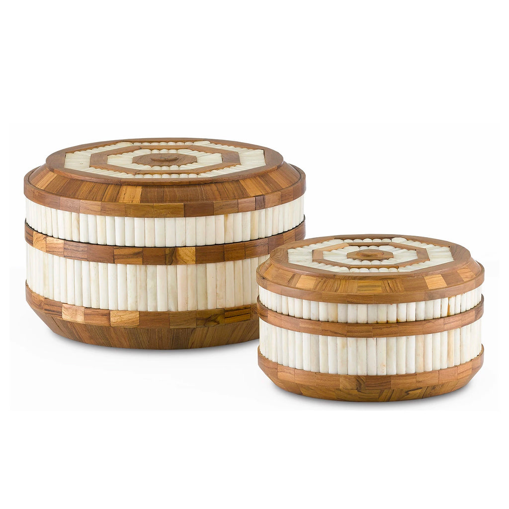 Currey & Co Banjhara Round Box Set of 2