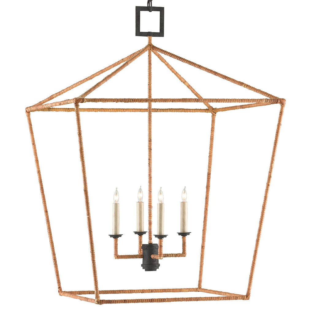 Currey & Co Denison Rattan Lantern