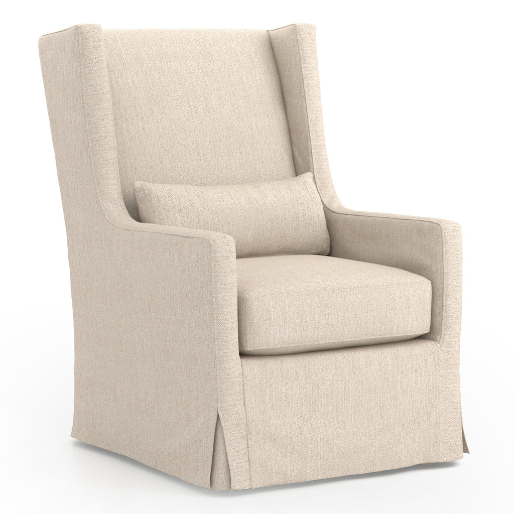 Four Hands Swivel Wing Chair