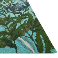 Loloi Wild Bloom Aqua/Green Hooked Rug