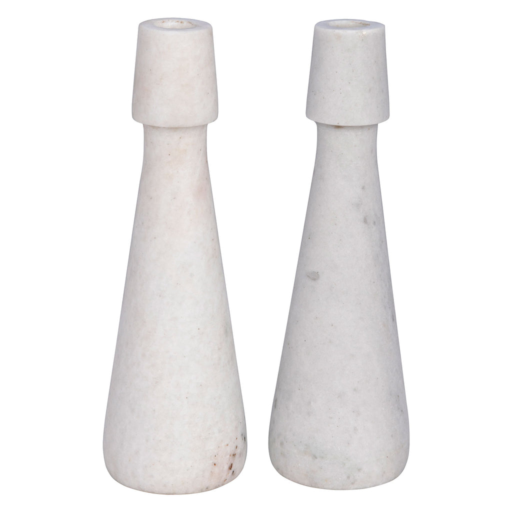 Noir Mitros Candle Holder Set of 2