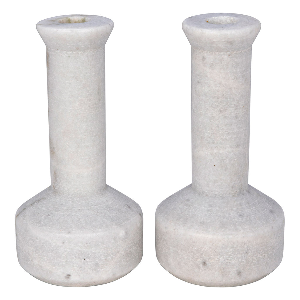 Noir Milos Candle Holder Set of 2