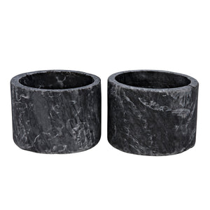Noir Syma Candle Holder Set of 2
