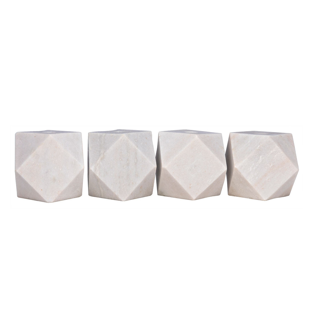 Noir Polyhedron Candle Holder Set of 4