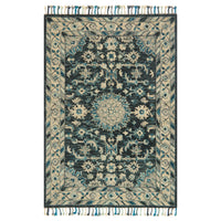 Loloi Zharah Teal/Gray Hooked Rug