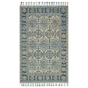 Loloi Zharah Mist/Blue Hooked Rug
