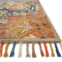 Loloi Zharah Rust/Blue Hooked Rug