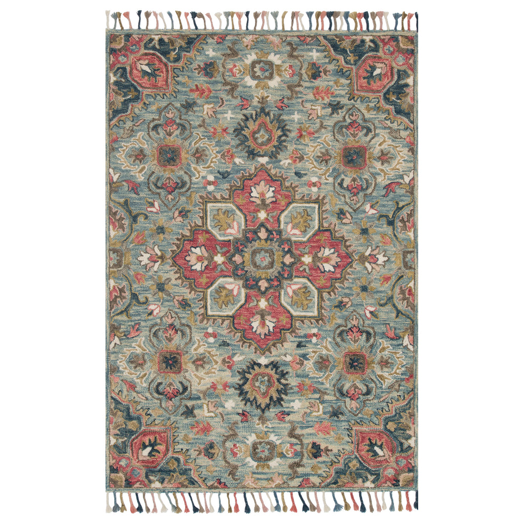 Loloi Zharah Light Blue/Multi Hooked Rug