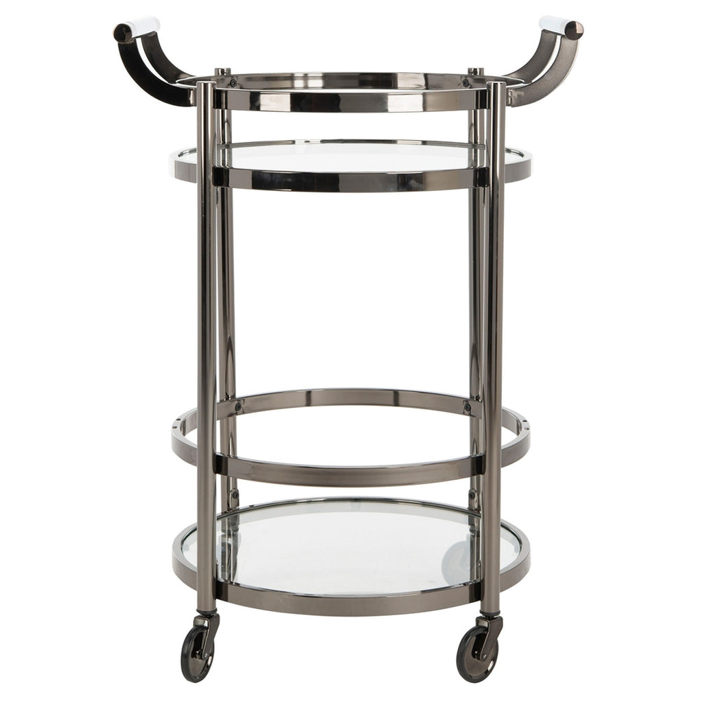 Darcie 2 Tier Round Bar Cart