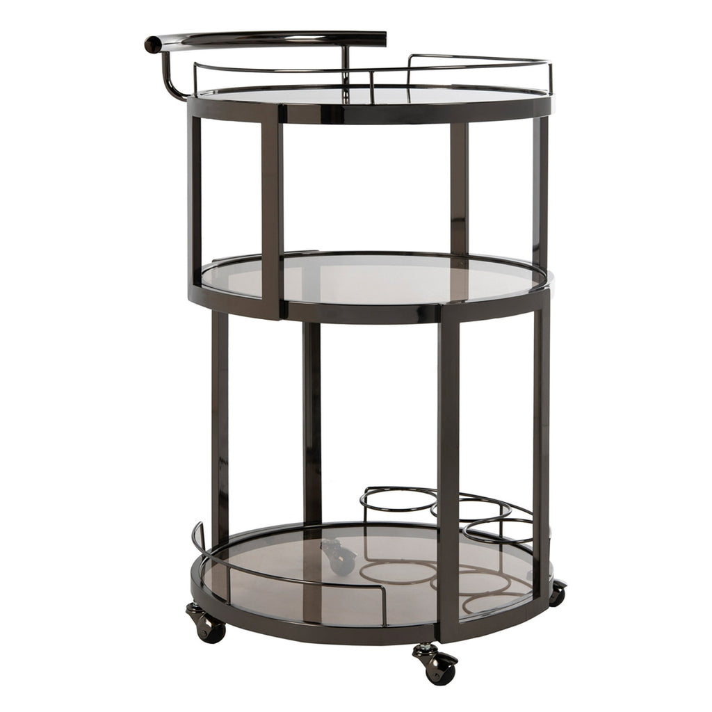 Kalin 3 Tier Round Bar Cart