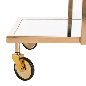 Amira 2 Tier Rectangle Bar Cart