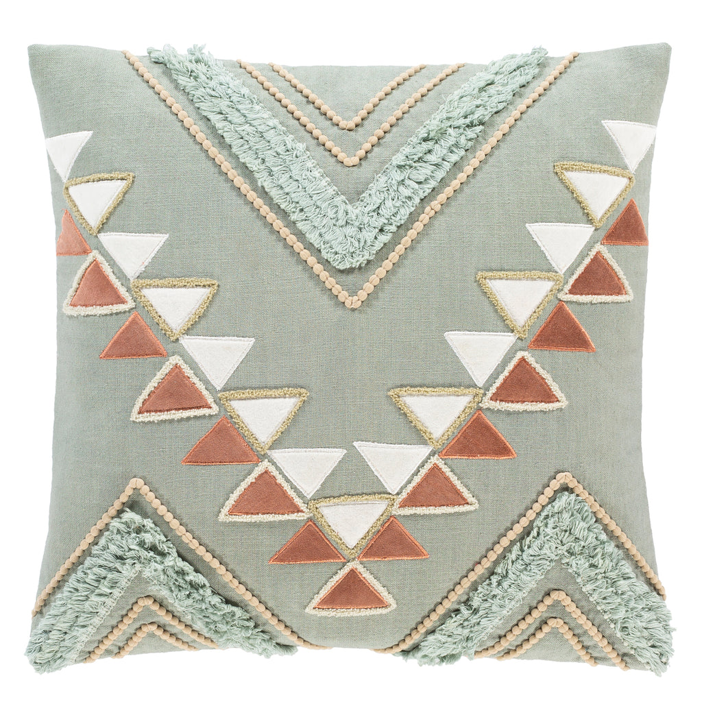 Cortina Green Throw Pillow