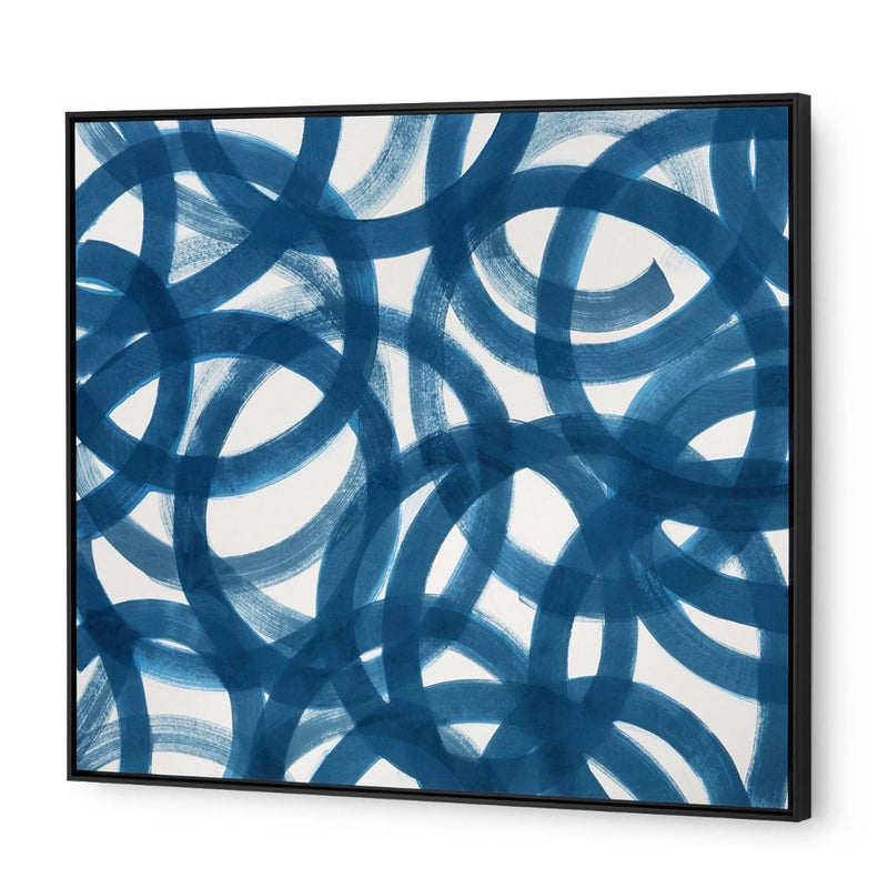 Bungalow 5 Circle Silk Framed Wall Panel