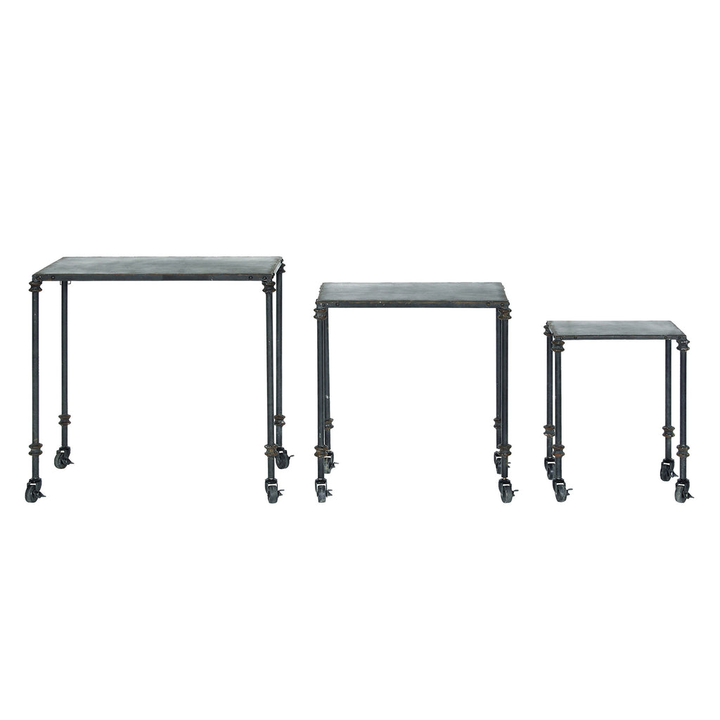 Curtis Caster Side Table Set of 3
