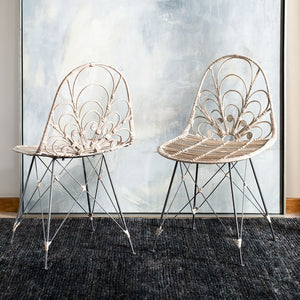 Qualio Rattan Dining Chair Set of 2