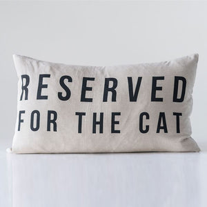 Reserved For The Cat Throw Pillow