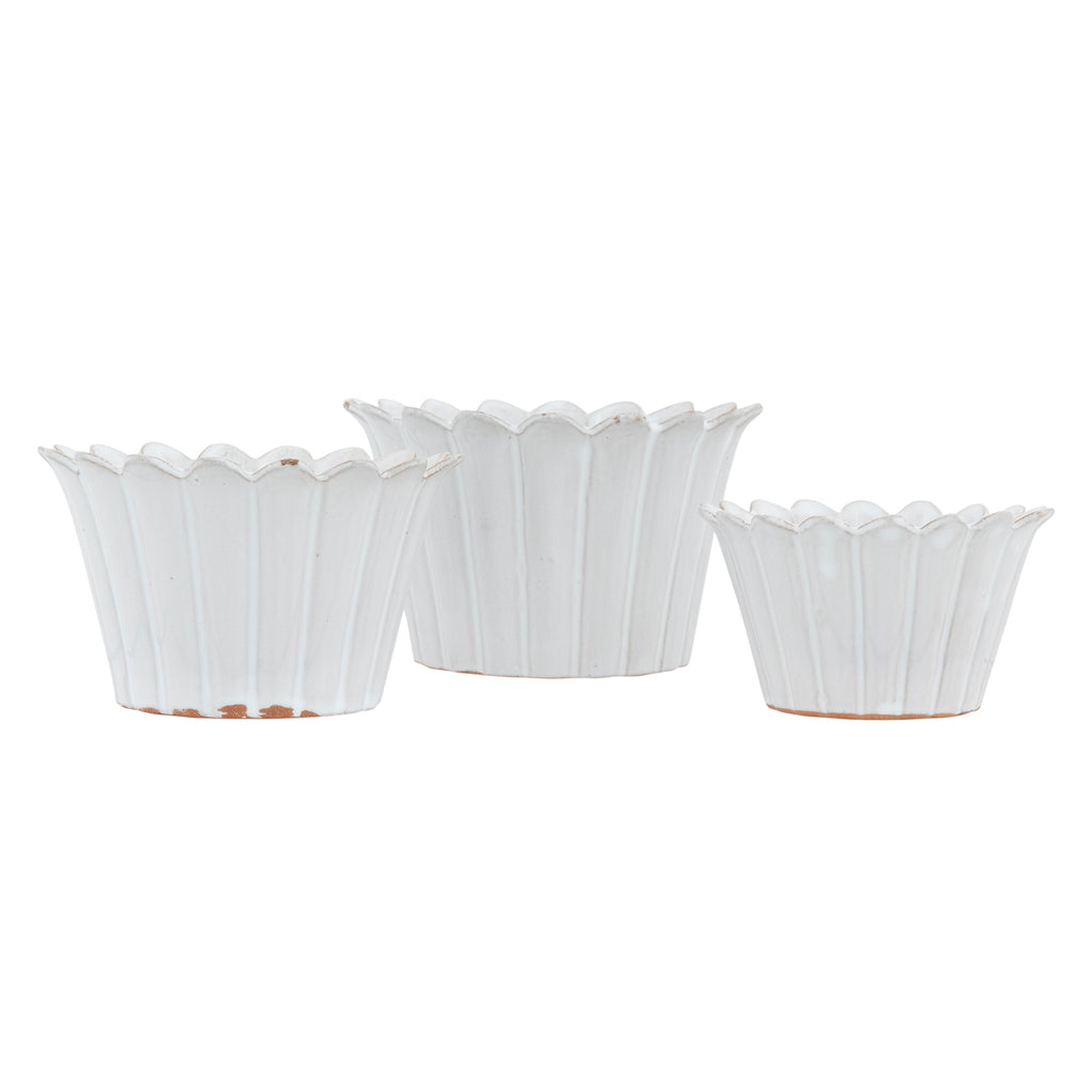 Fluted Planter Set of 3