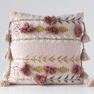 Floret Tassel Throw Pillow