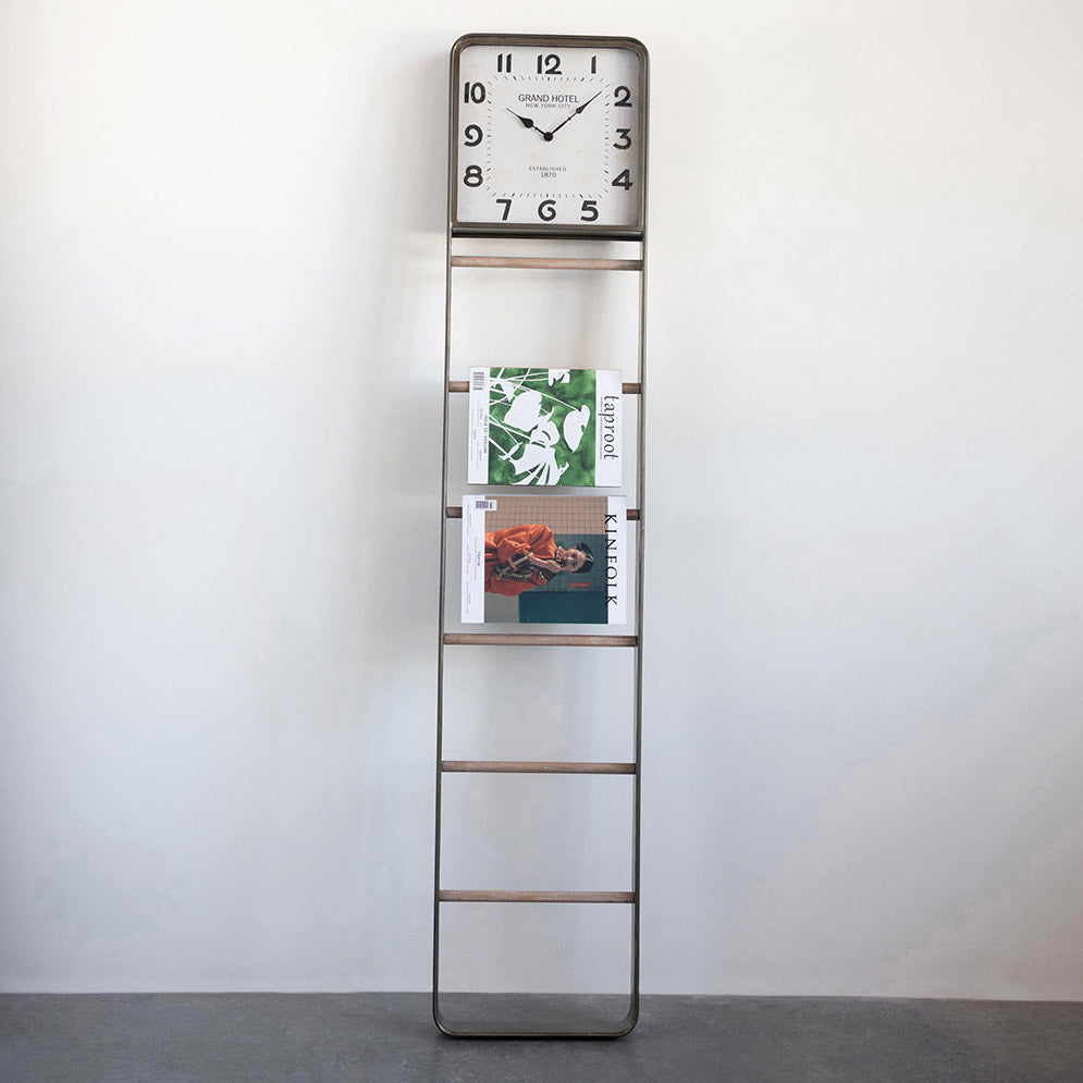 Clock Decorative Blanket Ladder
