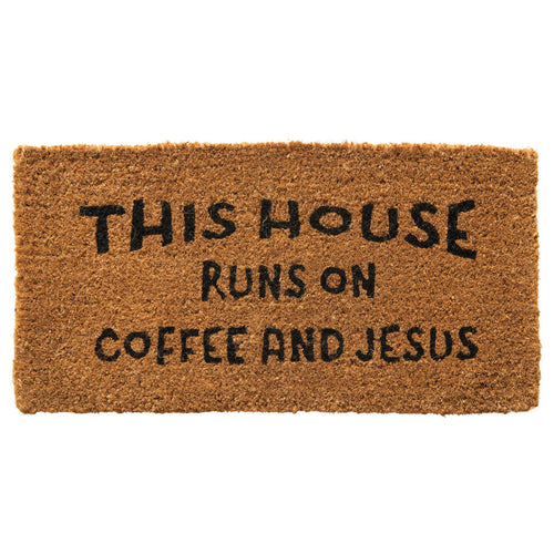 This House Runs On Coffee Doormat