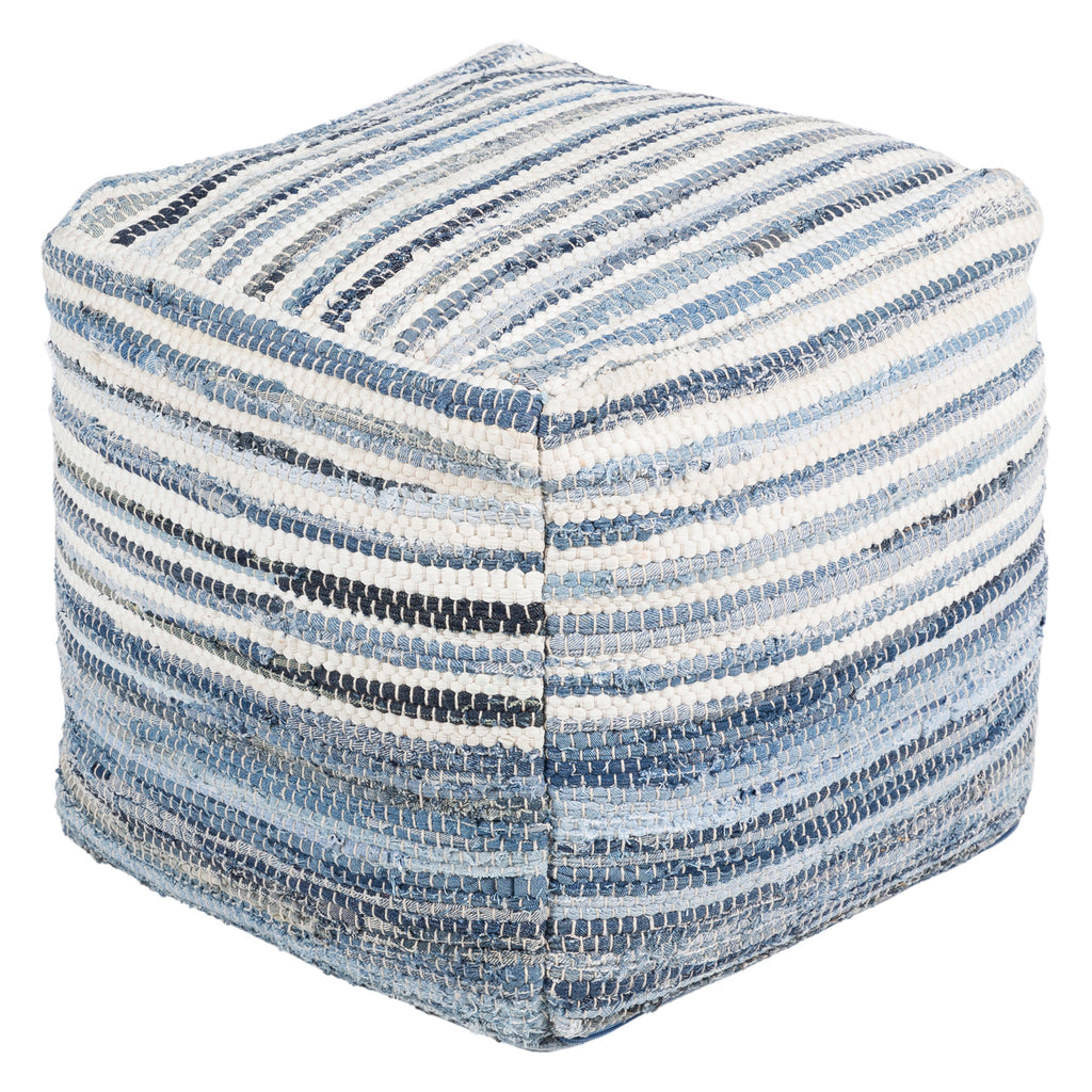 Chazz Denim Pouf