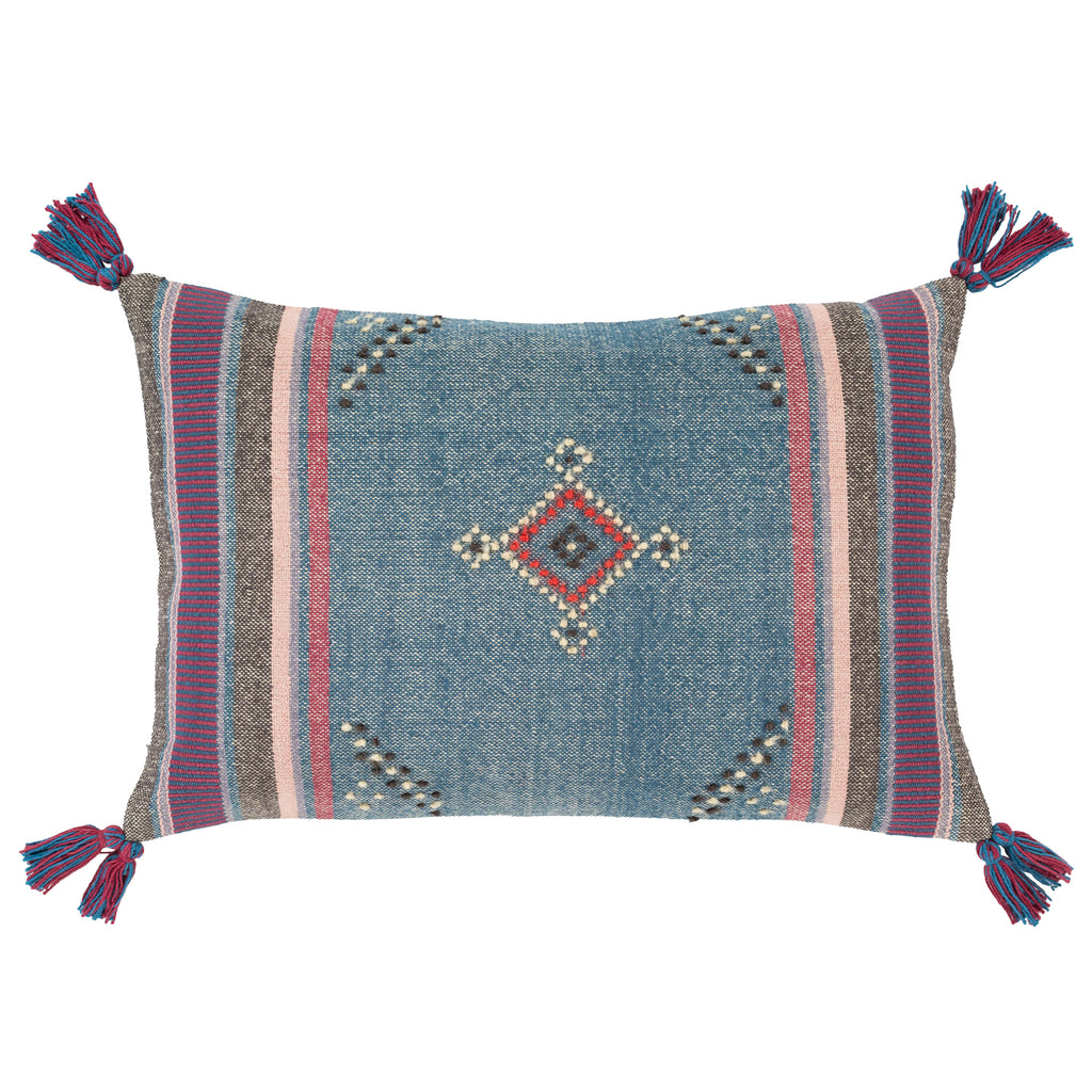 Indus Blue Throw Pillow