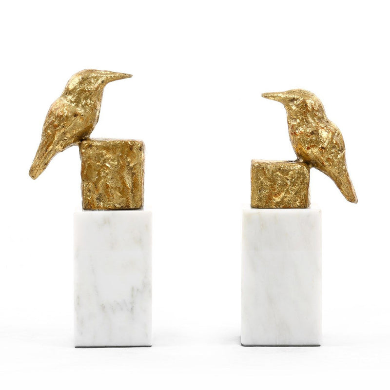 Bungalow 5 Finch Statue Set of 2