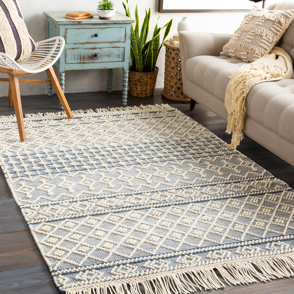 Surya Farmhouse Tassel Arrow Hand Woven Rug