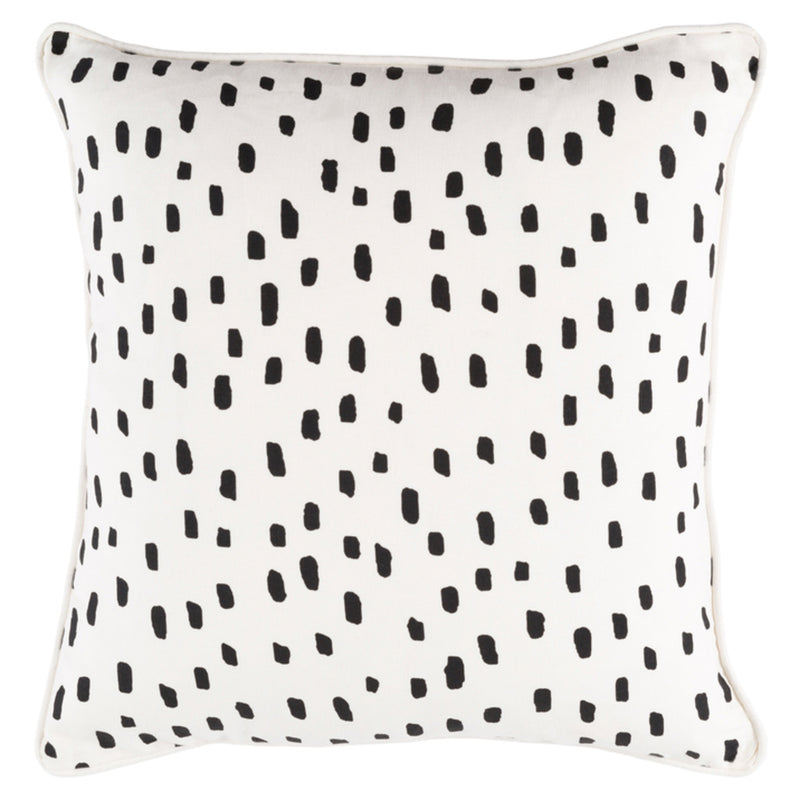 Coco Spot Black Throw Pillow