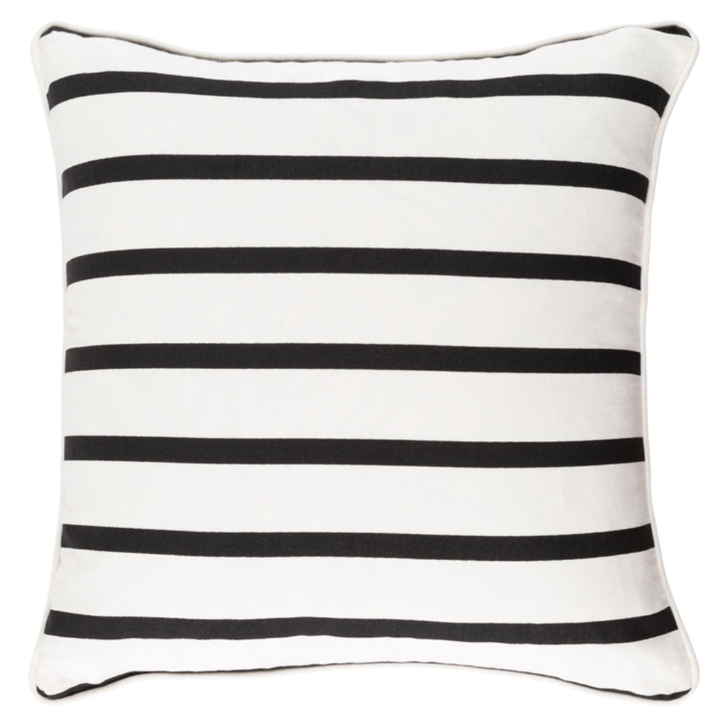 Coco Thin Black Throw Pillow