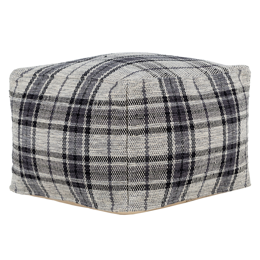 Cliff Plaid Pouf